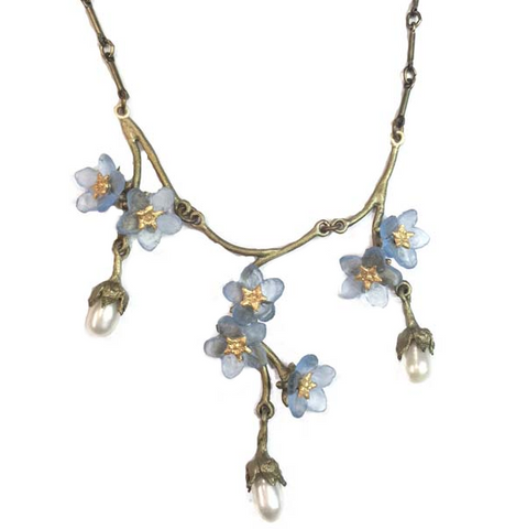 Silver Seasons by Michael Michaud - Forget Me Not Triple Drop Necklace