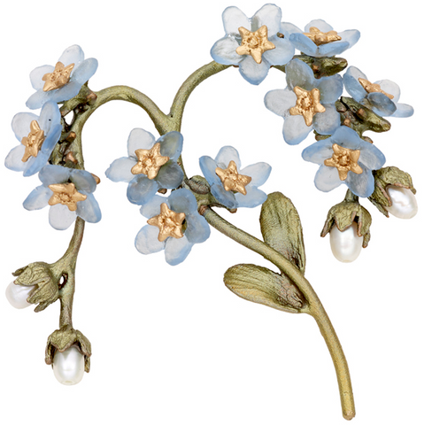 Silver Seasons by Michael Michaud - Forget Me Not Pin
