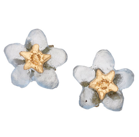Silver Seasons by Michael Michaud - Forget Me Not Post Earrings
