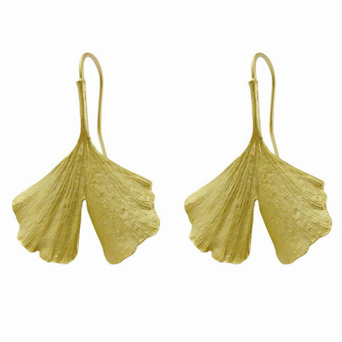 Silver Seasons by Michael Michaud - Gold Gingko Earrings