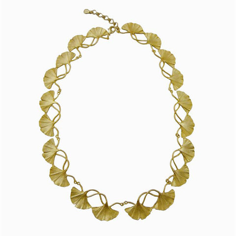 Silver Seasons - Michael Michaud - Gold Gingko Necklace