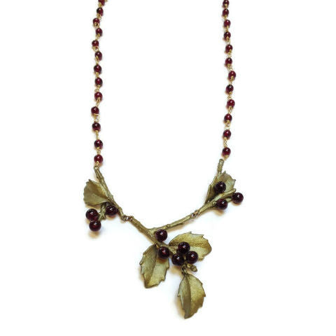 Silver Seasons by Michael Michaud - Holly Garnet Bead Necklace