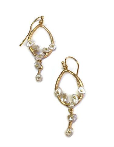 Silver Seasons by Michael Michaud - Teardrop Jasmine Earrings