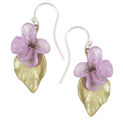 Silver Seasons by Michael Michaud - Lilac Flower Earrings