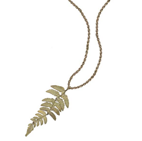 Silver Seasons by Michael Michaud - Long Fern Pendant