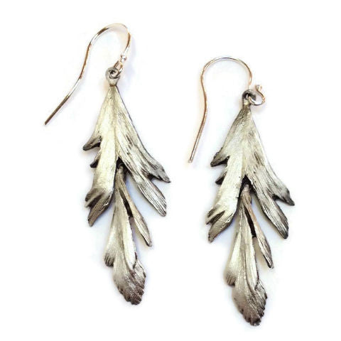 Silver Seasons - Michael Michaud - Feather Earrings in Silver