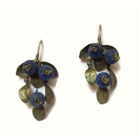 Silver Seasons - Michael Michaud - Blueberry Wire Drop Earrings