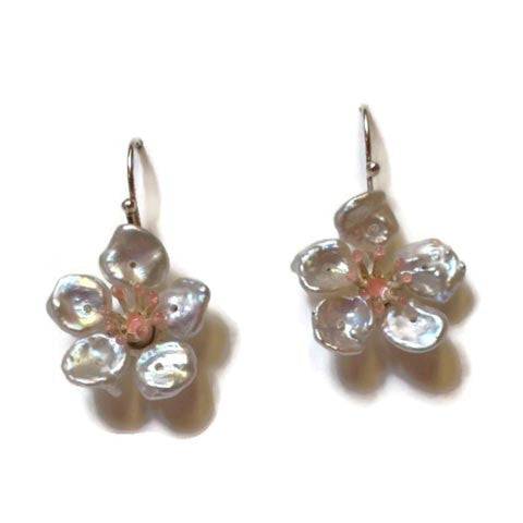 Silver Seasons - Michael Michaud - Cherry Blossoms Earrings
