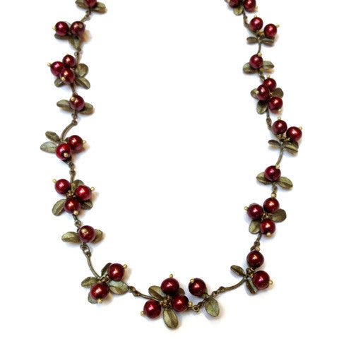 Silver Seasons - Michael Michaud - Cranberry Necklace