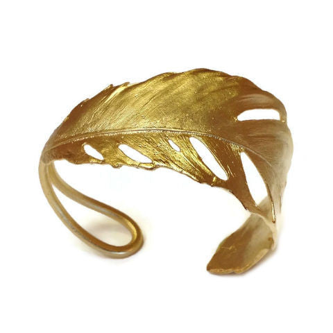 Silver Seasons - Michael Michaud - Feather Cuff Bracelet in Gold