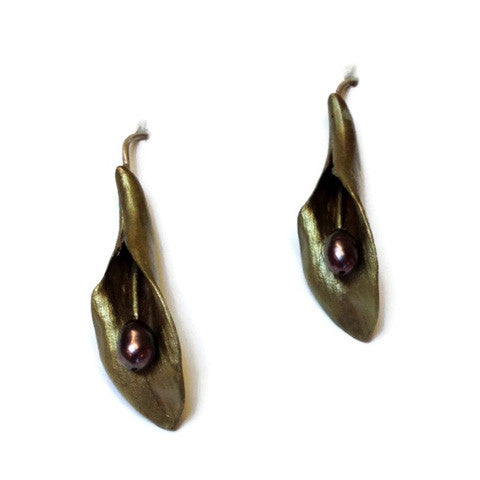 Silver Seasons - Michael Michaud - Hosta Earrings
