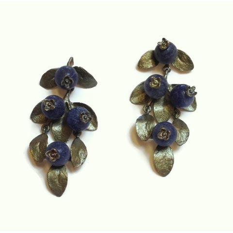 Silver Seasons - Michael Michaud - Blueberry Earrings
