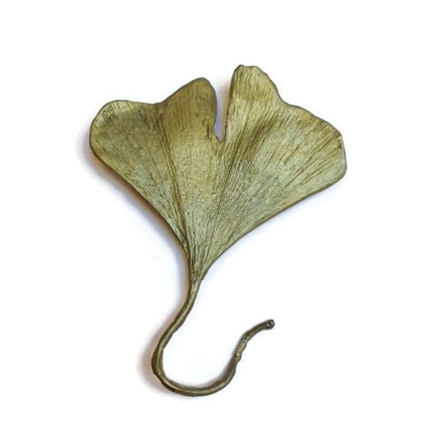 Silver Seasons - Michael Michaud - Ginkgo Leaf Pin With Stem