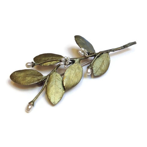 Silver Seasons - Michael Michaud - Myrtle Pearl Brooch