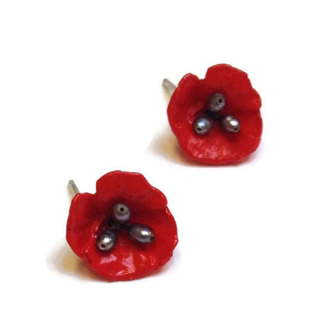 Silver Seasons - Michael Michaud - Poppy Post Earrings