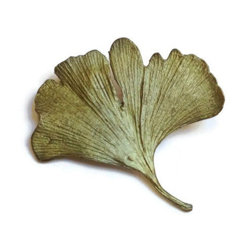 Silver Seasons - Michael Michaud - Small Gingko Leaf Pin