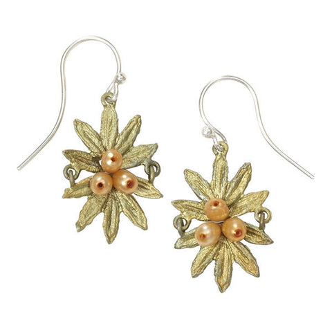 Silver Seasons by Michael Michaud - Tundra Rose Cluster Earrings