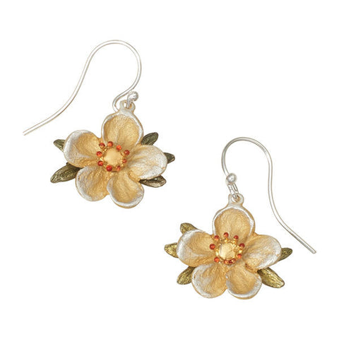 Silver Seasons by Michael Michaud - Tundra Rose Flower Earrings