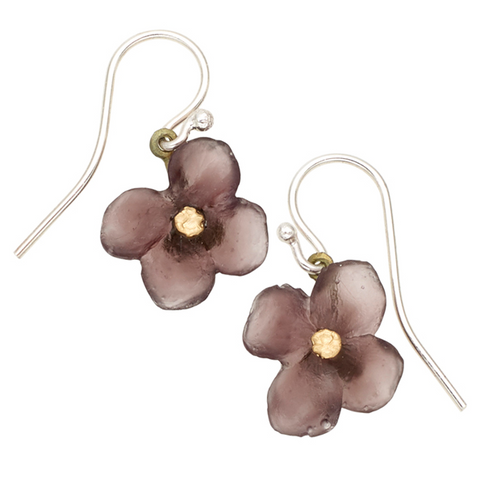 Silver Seasons by Michael Michaud - Wood of Life Flower Earrings