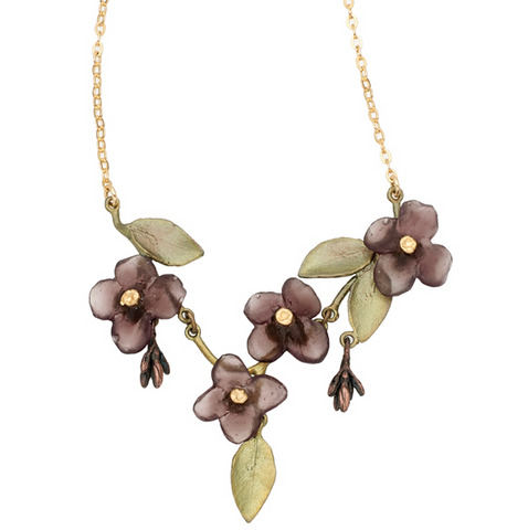 Silver Seasons by Michael Michaud - Wood of Life Flower Necklace