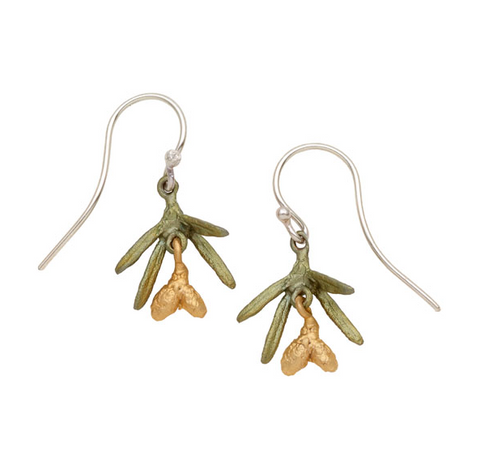 Silver Seasons by Michael Michaud - Petite Pine Earrings