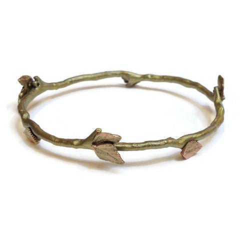 Silver Seasons by Michael Michaud - Autumn Birch Bangle Bracelet