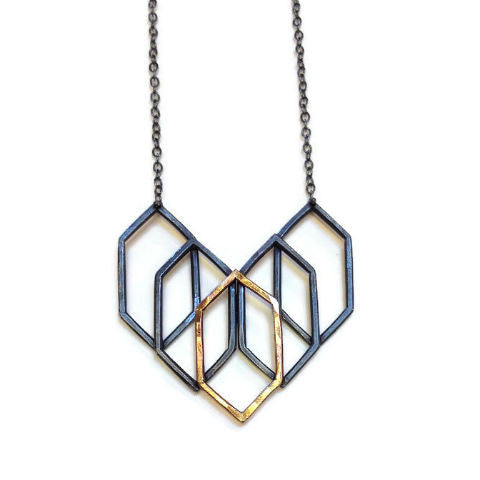 Symbology - Prism Necklace with Gold