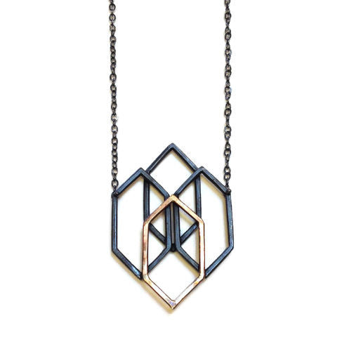 Symbology - Structure Necklace with Gold