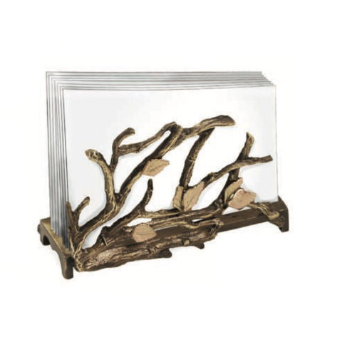 Table Art by Michael Michaud - Autumn Birch Business Card Holder