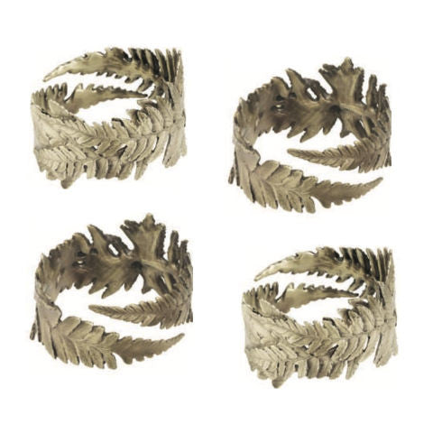 Table Art by Michael Michaud - Fern Napkin Ring Set