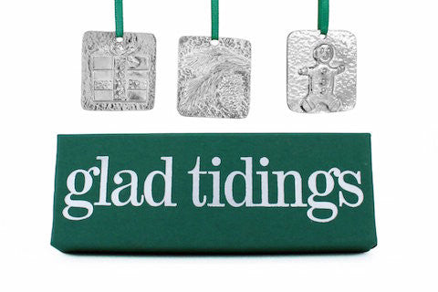 Vilmain Pewter - Glad Tidings Ornaments