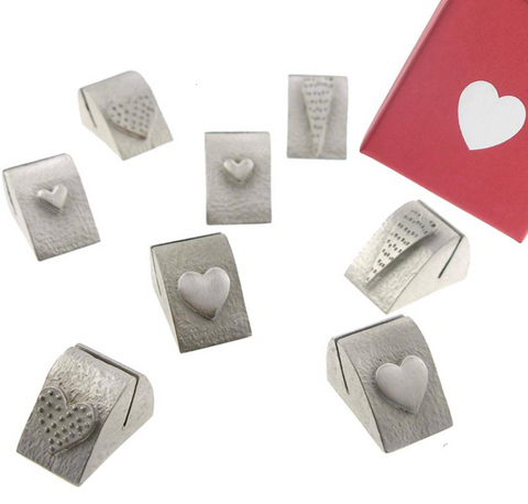 Vilmain Pewter - Hearts Place Card Holders