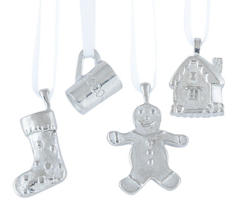 Vilmain Pewter - Christmas Party Ornament Set