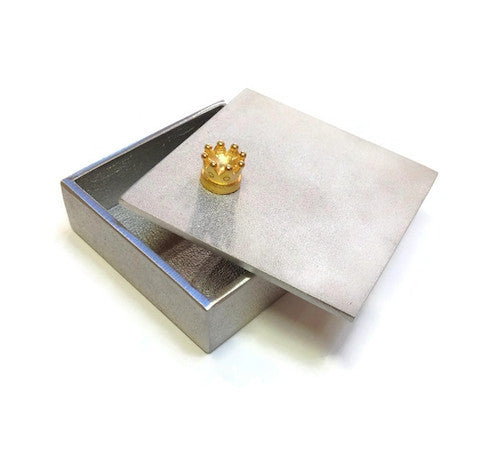 Vilmain Pewter - Gold Crown Treasure Box