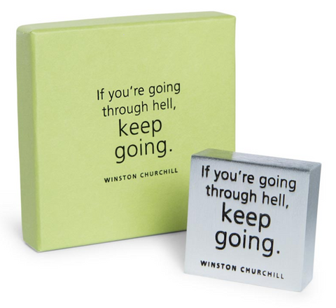 Vilmain Pewter - Keep Going Paperweight