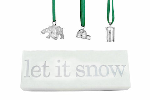 Vilmain Pewter - Let it Snow Ornaments