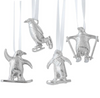 Vilmain Pewter - Penguins Ornament Set