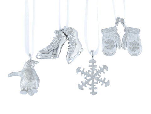 Vilmain Pewter - Winter Fun Ornament Set