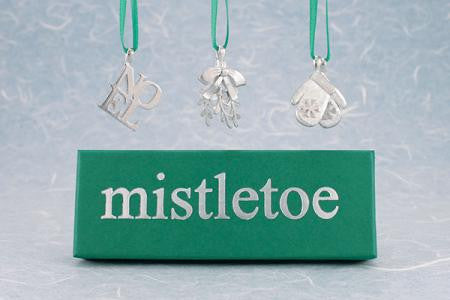Vilmain Pewter - Mistletoe Ornament Set