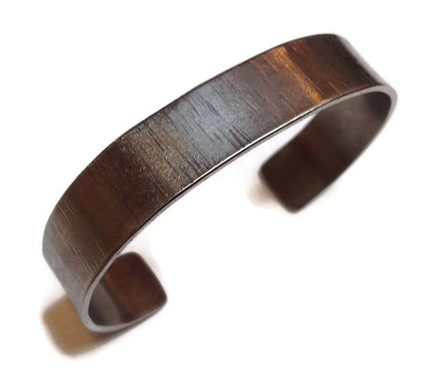 Kenneth Pillsworth Jewelry - Hammered Titanium Cuff