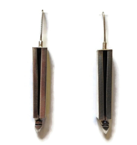 Kenneth Pillsworth Jewelry - Large Linear Earrings