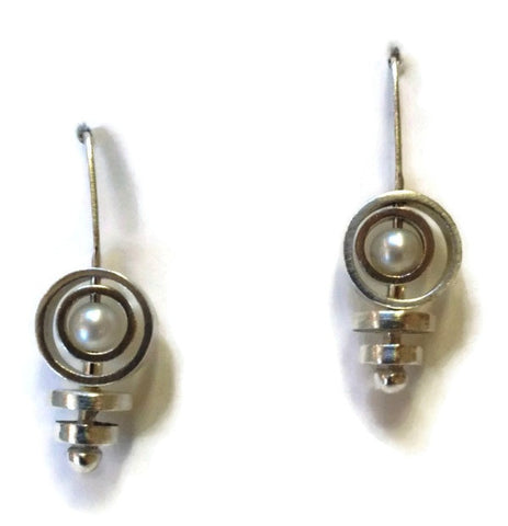 Kenneth Pillsworth Jewelry - Pearl Spinner Earrings