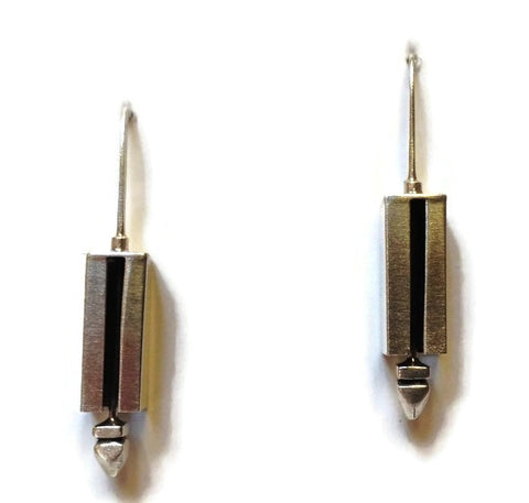 Kenneth Pillsworth Jewelry - Small Linear Earrings
