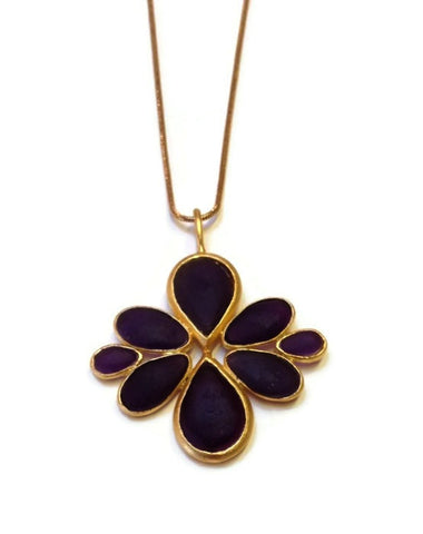 Michael Vincent Michaud Jewelry - Cluster Drop Pendant