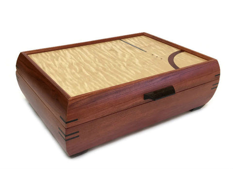 Mikutowski Woodworking - Bubinga and Curly Maple Jewelry Box