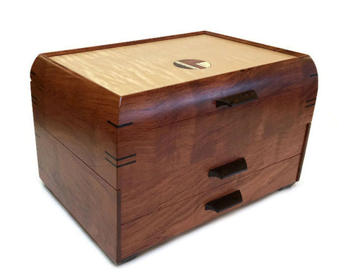 Mikutowski Woodworking - Bubinga and Curly Maple Jewelry Chest