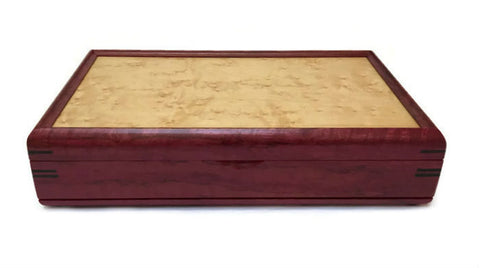 Mikutowski Woodworking - Purple Heart and Birds-Eye Maple Valet Box
