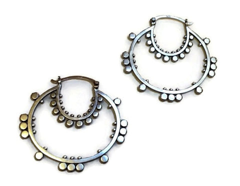 Sasha Bell Jewelry - Double Sunflower Hoop Earrings