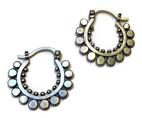 Sasha Bell Jewelry - Medium Sunflower Hoop Earrings