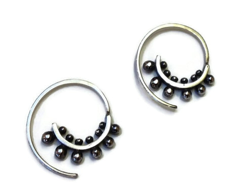 Sasha Bell Jewelry - Small Ultra Spiral Hoop Earrings